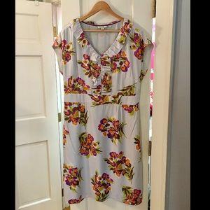 Boden Tall Silk Floral Party Dress